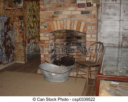 Fireplace clipart old fashioned  Stock Old old Fireplace