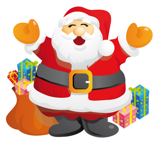 Fireplace clipart santa claus Free Art Christmas Domain Santa