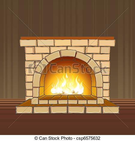 Fireplace clipart stone fireplace Fireplace in flame Fireplace