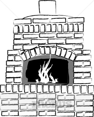 Fireplace clipart stone oven A Art Fireplace Christmas Oven