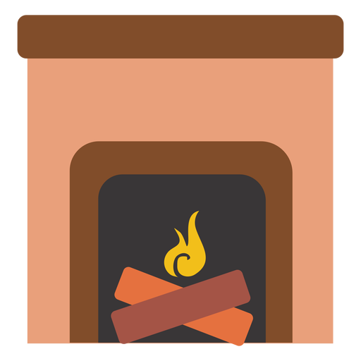 Fireplace clipart transparent Transparent Fireplace icon Fireplace flat