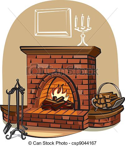 Fireplace clipart old fashioned Fireplace fireplace; with Vectors of