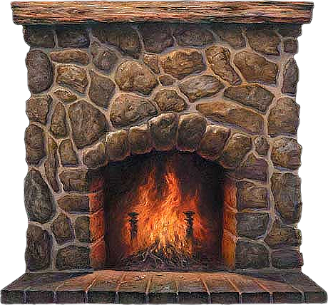 Fireplace clipart vector Clipartix Fireplace art download free