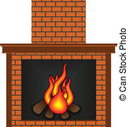 Fireplace clipart vector A Fireplace clipart 4 Images