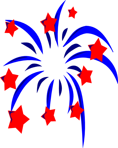 Sparklers clipart fourth july firework Border july july 4th fireworks