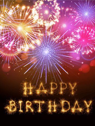 Fireworks on Happy Card Pinterest