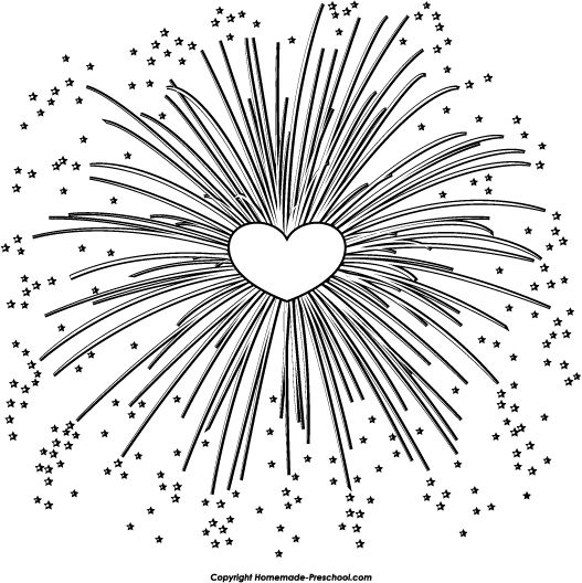 Fireworks clipart black and white And and that will free