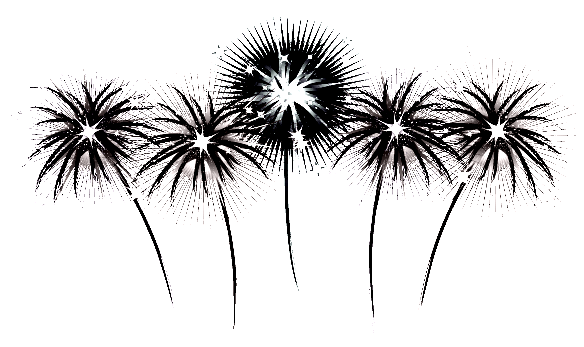 Fireworks clipart black and white на Free Clipart Vector Clipart