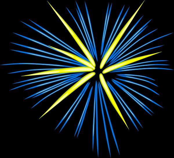 Fireworks clipart black background Vector  art Clker Art