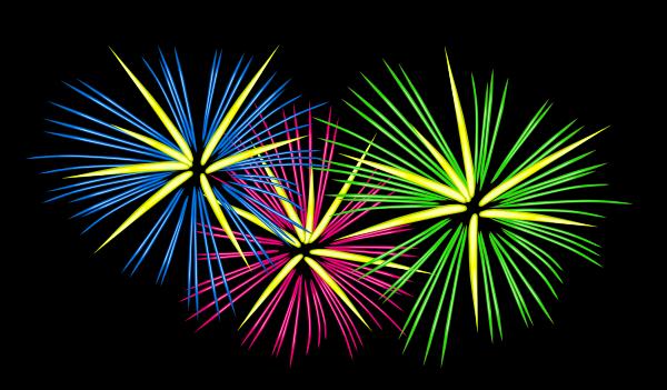 Fireworks clipart black background Online WallpaperSafari Fireworks clip com