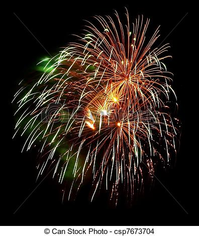 Fireworks clipart black background Colorful a Isolated Black Photo