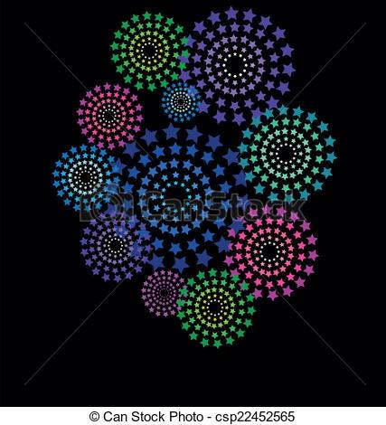 Fireworks clipart black background Of frame star on Art