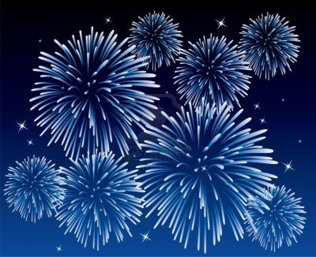 Fireworks clipart blue background Red Blue White And