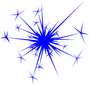 Silver clipart blue firework Clip Blue  vector online
