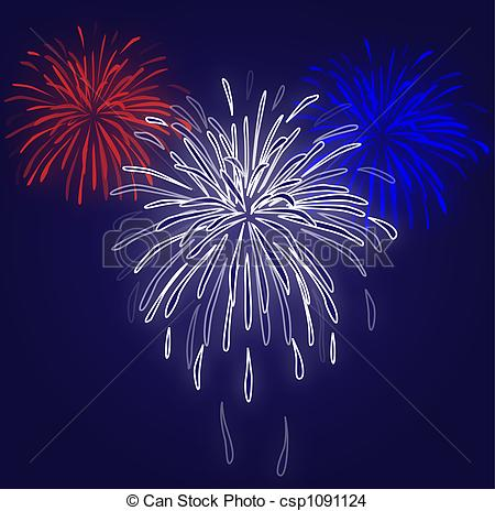 Fireworks clipart blue background Of red Blue Fireworks Drawing