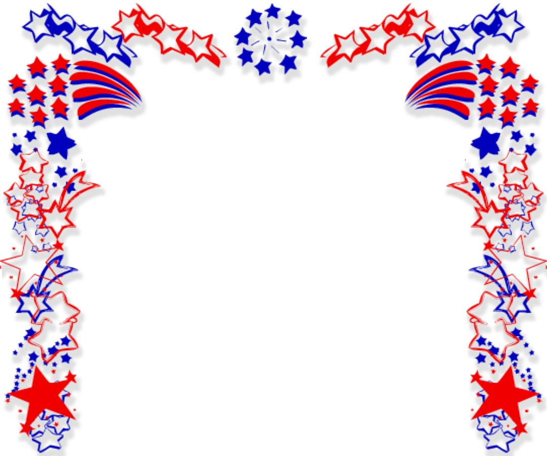 American Flag clipart shield Clipart Free Fireworks Images Border