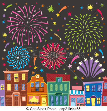 Fireworks clipart cartoon Clip transparency above Art Vector