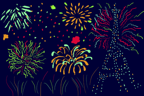 Fireworks clipart cartoon Dekeyser Art Clip Firework Media