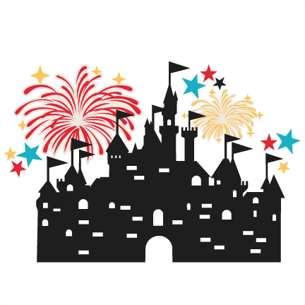 Fireworks clipart castle Fireworks free svg cuts cute