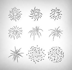 Fireworks clipart blue background Vector Party Set Fireworks Plan