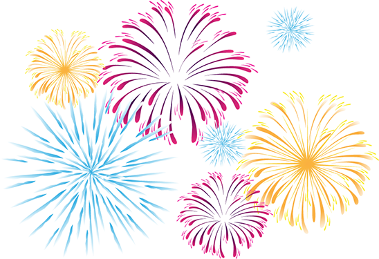 Fireworks clipart clear background PNG All Images Advertisement PNG