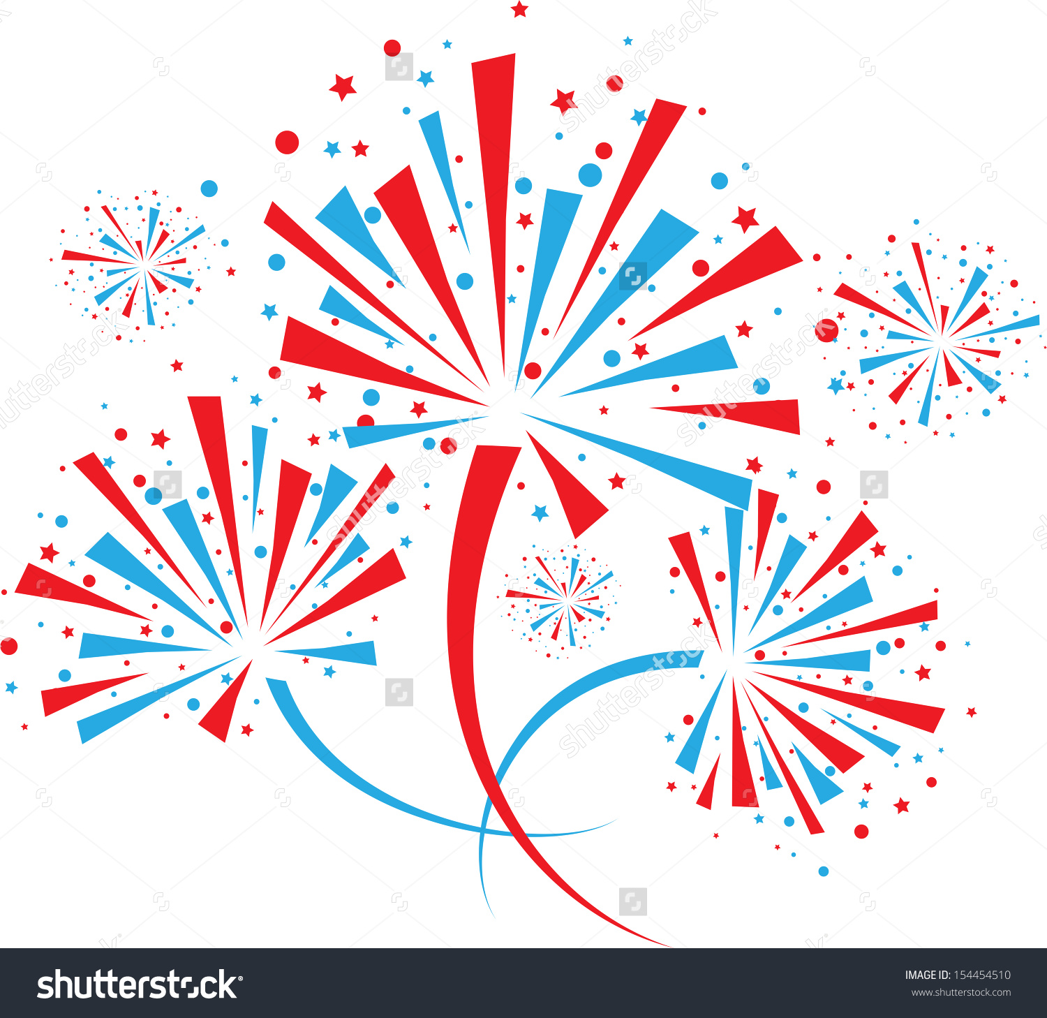 Fireworks clipart clear background  and white clipart Red