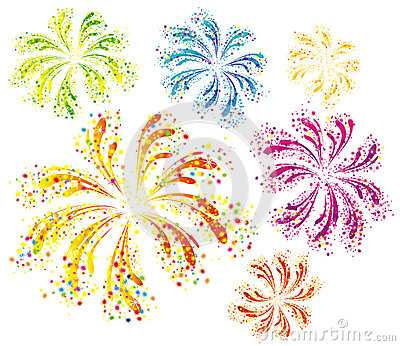 Fireworks clipart colored Clothespin Thursday Clipart Fireworks Colorful
