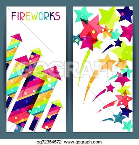 Fireworks clipart colored Banners  colored gg72354572 colorful