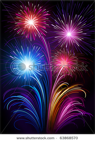 Fireworks clipart colored A fish Beautiful A