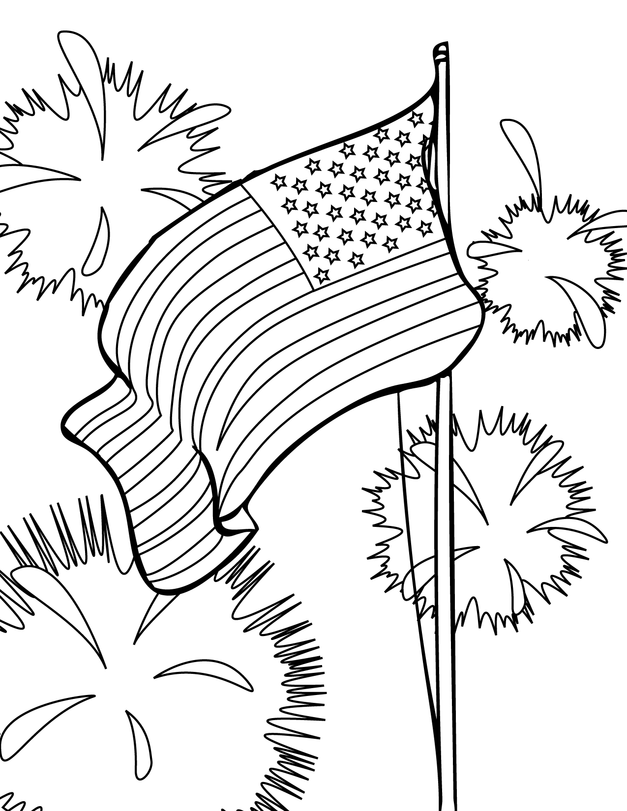 USA clipart for kid printable Pages Coloring For Kids 4th
