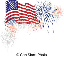 Fireworks clipart flag And pictures and Fireworks Stock