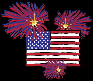 Fireworks clipart flag Fireworks and Fireworks and Flag