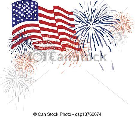 Fireworks clipart flag States fireworks &  media