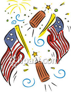 Fireworks clipart flag Royalty Picture Free Clipart Clipart