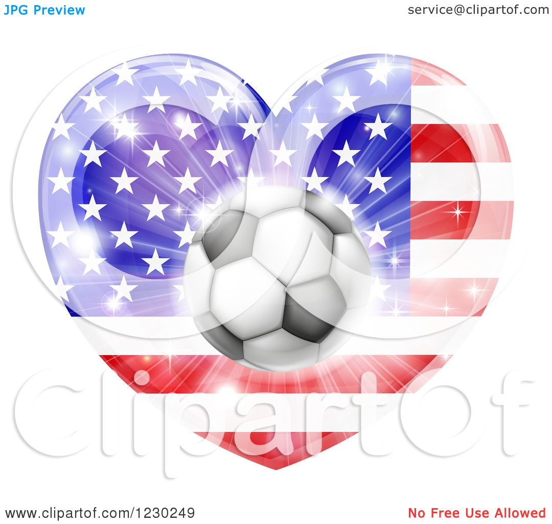 Fireworks clipart flag Soccer with 3d American a