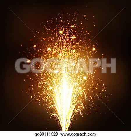 New Year clipart sparks  New Illustration Eve Firework