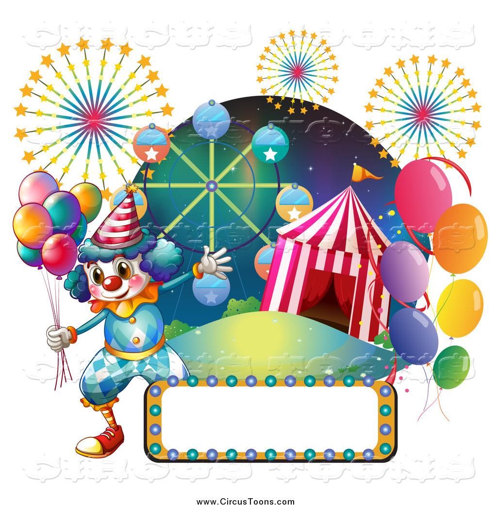 Tent clipart carnival ride Top a fair clown carnival