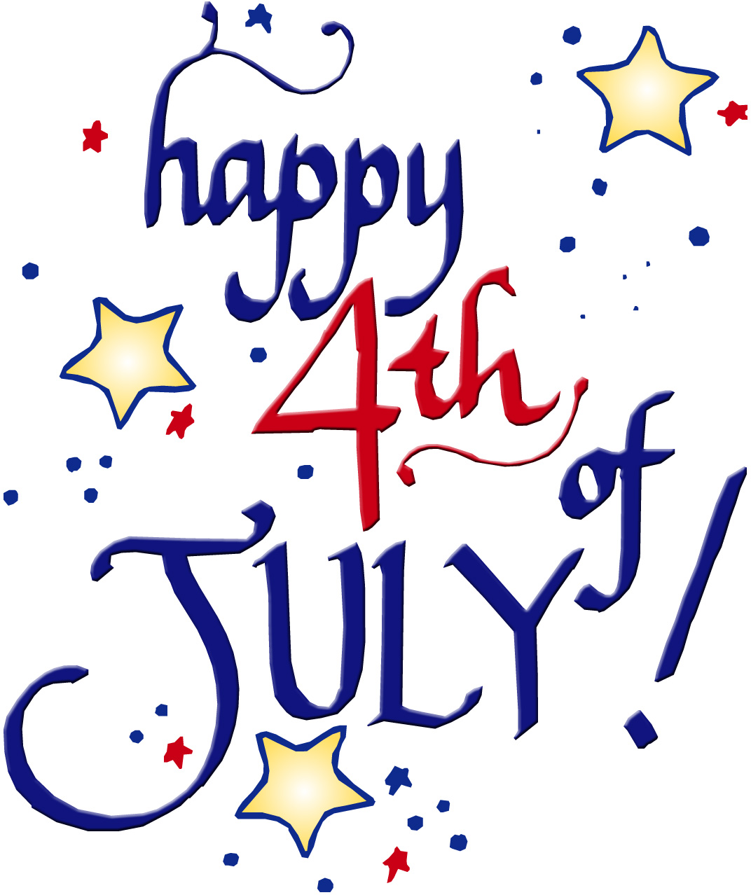 Small clipart 4th july Of 4th clipart 4th fireworks