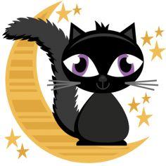 Black Cat clipart scrapbook Cuttables SVG Firework SVG SVG