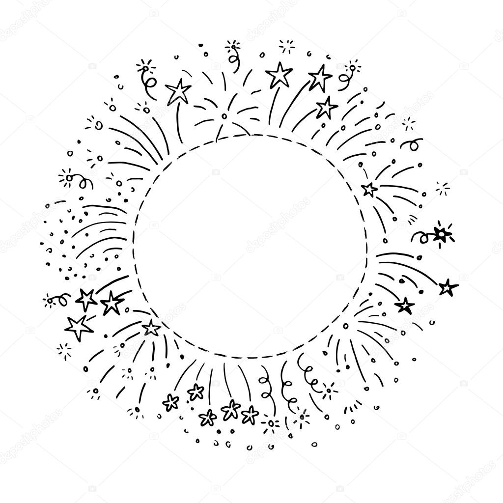 Fireworks clipart hand drawn Stock © frame Hand Vector