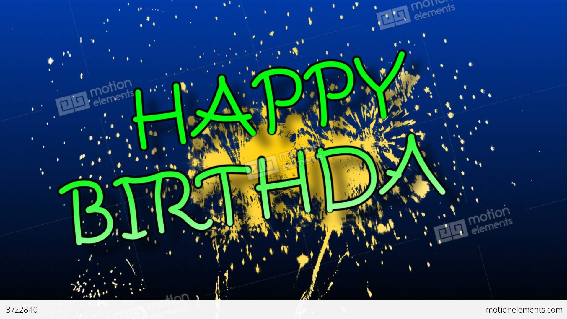 Fireworks clipart happy birthday Happy with fireworks animation Birthday