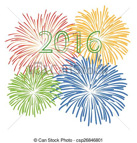 Fireworks clipart happy new year Fireworks Vector Happy year Happy