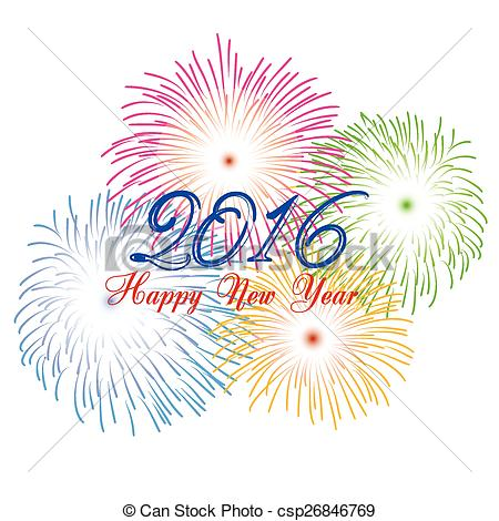 Fireworks clipart happy new year Fireworks Clip 2016 new of