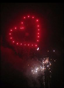 Heart-shaped clipart firework #10