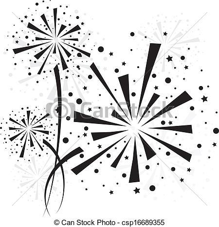 Fireworks clipart icon Big of black Firework on