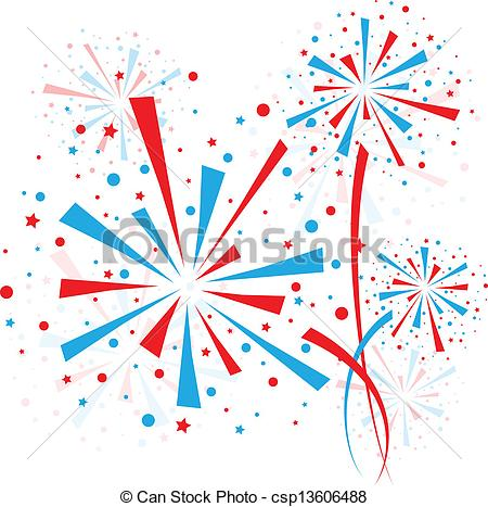 Fireworks clipart icon Blue Big csp13606488 red white