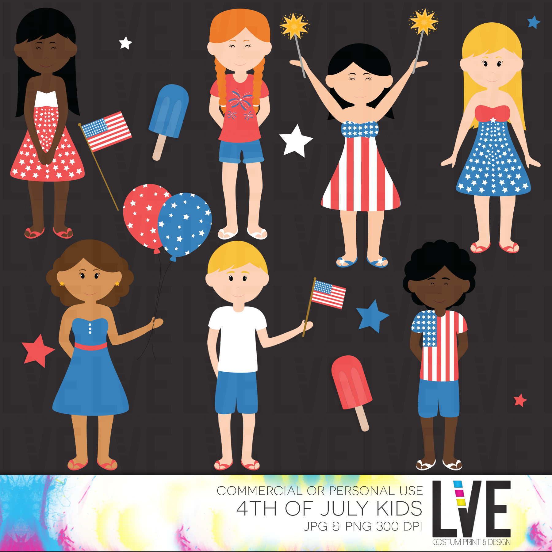 Fireworks clipart kid Kids of fireworks This file