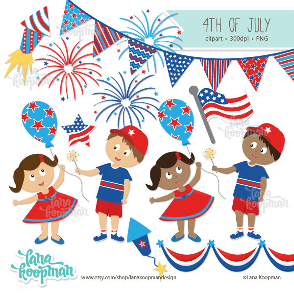 Fireworks clipart kid July (60+) July clip art