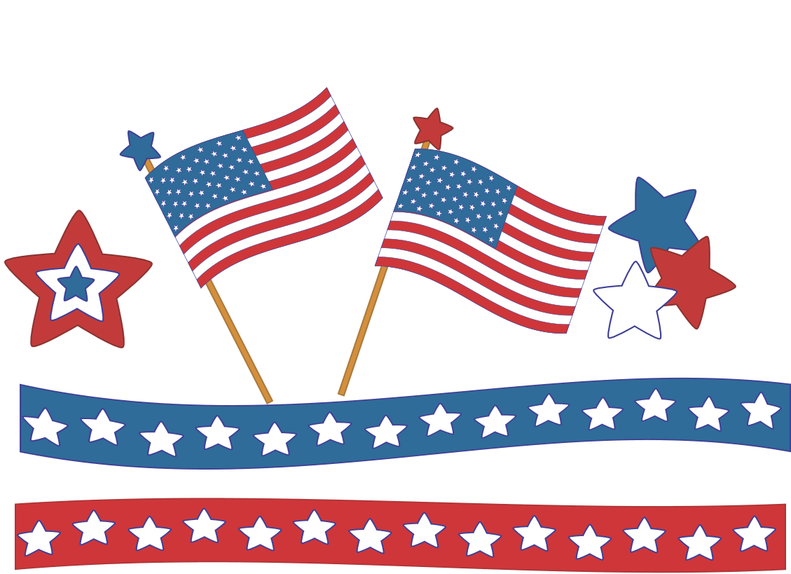 Fireworks clipart memorial day  4th art Clipart July