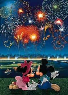 Fireworks clipart mickey mouse  Mickey and Disney fireworks